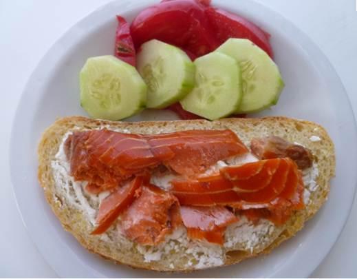 Description: Smoked Salmon & Tomato Tartines