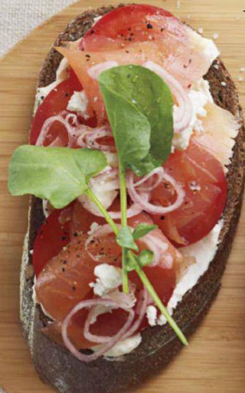 smoked salmon  tomato tartines
