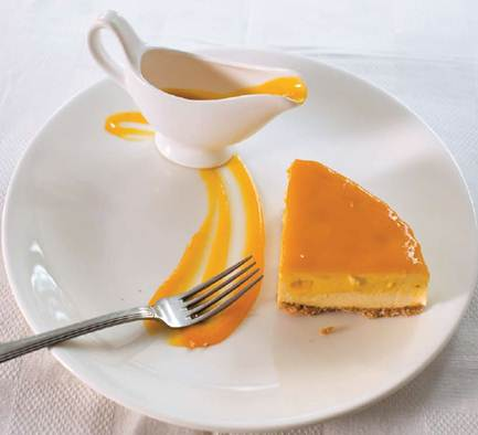 Description: Mango cheesecake