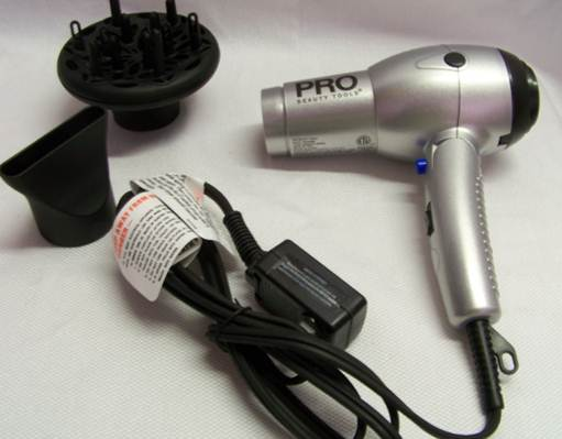 Description: the compact Pro Beauty Tools dryer