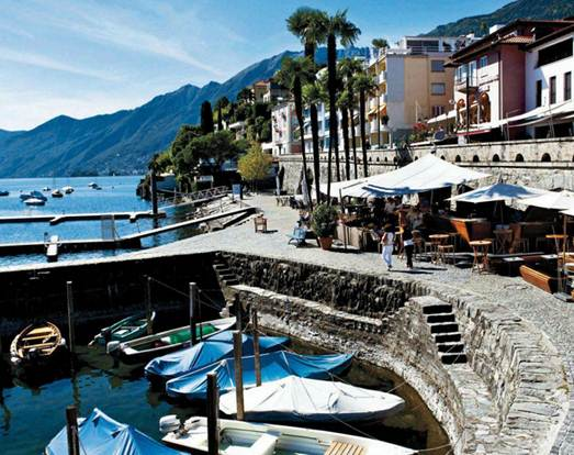 Description: The Restaurant Seven in Ascona