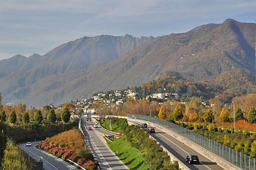 Description: Road locarno ascona switzerland