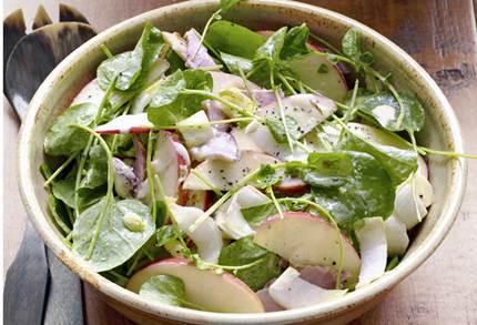 Description: Green olive, zucchini, cucumber and black forest ham salad