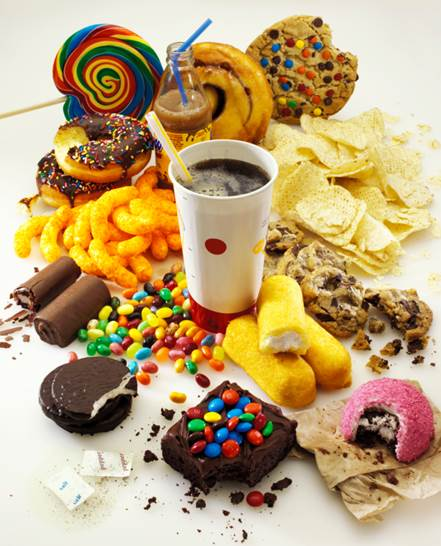 Junk food is low-nutrient-content but, it has many harmful substances.