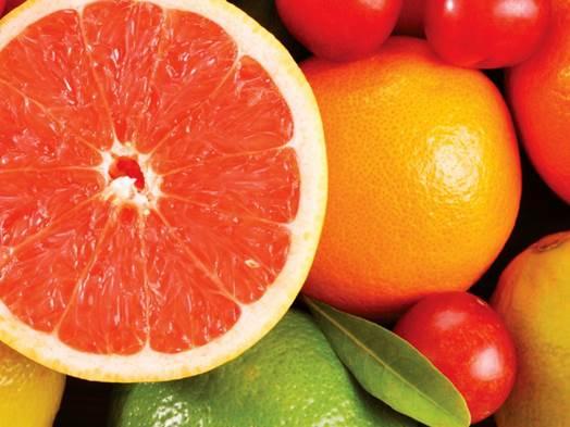 Grapefruits are rich in vitamin C and fiber.