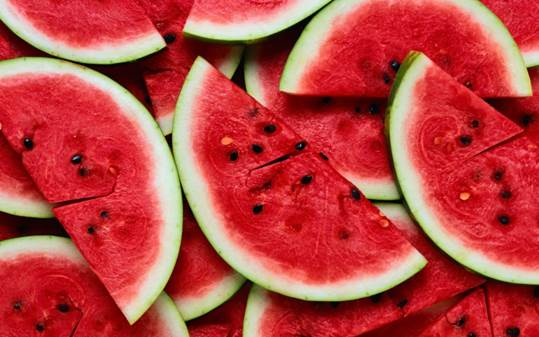Water melon brings refreshment.