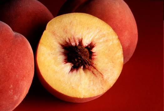 The amount of iron that is provided by peach is second to cherries.