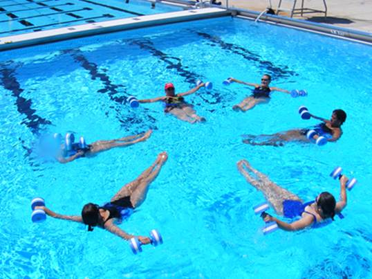 The water acts as resistance while your core works to keep your legs up