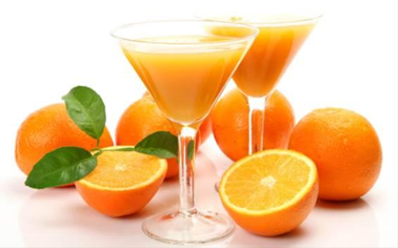 Orange juice and lemon juice are very good for skin.