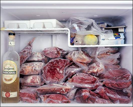 When you keep fish, meat in fridge, you should pack them carefully.