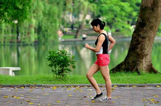 Doing exercise in the evening isn't as good as in the morning.