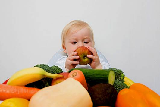 Vitamins and minerals in fruits are necessary for the development of children.