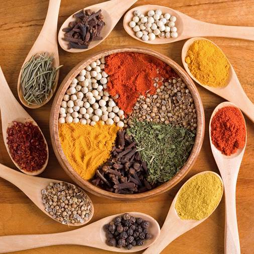 Using many spices and vegie flavorings in processing foods can increase the flavor of dishes and protect you from being damaged by toxics in foods.