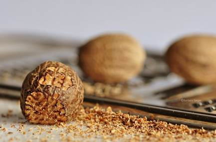 ¼ tsp. freshly grated nutmeg