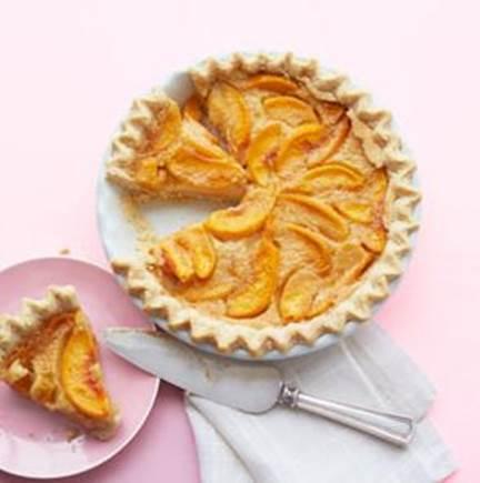 Grammy's peach-custard pie