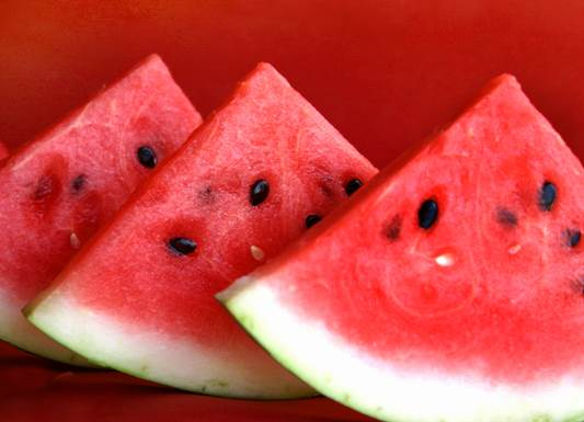 You should eat water melon with salt to emphasize the sweetness of it.