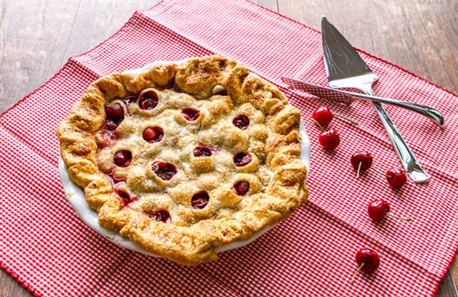 Polka-dot Cherry Pie