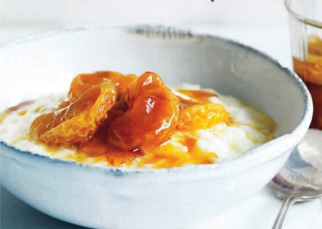 Rice Pudding with Caramelised Mandarines