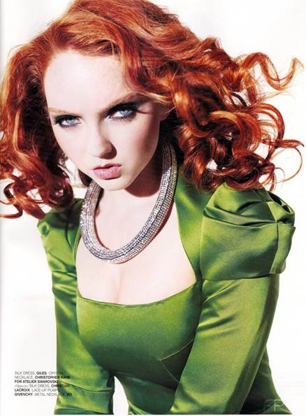 Description: Fashion's hottest redhead talks haircuts, bright lippy and Nineties perfume