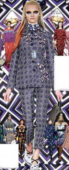 Description: Think minimal shapes, but head-to-toe pattern.