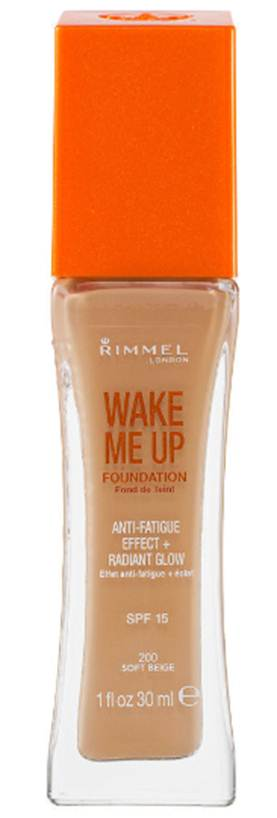 Description: Rimmel Wake Me Up Foundation, SPF15, $13.5
