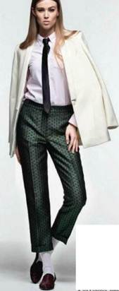 Description: Wool jacket, Cotton shirt, Ponyskin shoes, Bennett Silk tie
