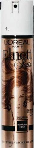 Description: Elnett Satin Diamond Hold & Shine Hairspray