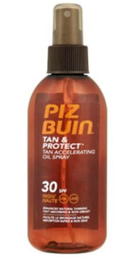 Description: Tan& Protect Tan Accelerating Oil Spray 30SPF, $26, by Piz Buin