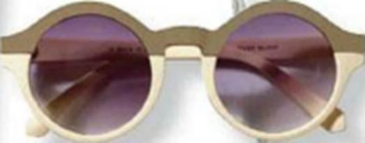 Description: Acrylic sunglasses, $19.5, by River Island