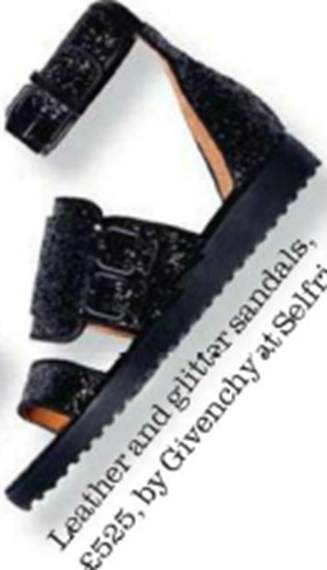 Description: Leather and glitter sandals, $787.5, by Givenchy at Selfridges