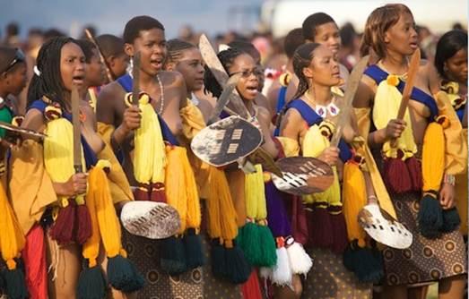 Description:  Umhlanga Reed Dance, Swaziland.