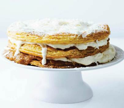 Description: Salted Banana Toffee Millefeuille