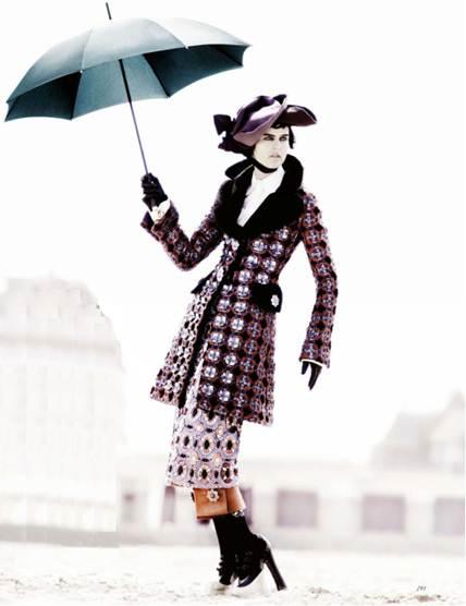 Description: Louis Vuitton's joyful show renewed a love for the period