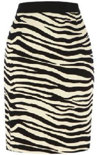 Description: Oasis zebra print skirt