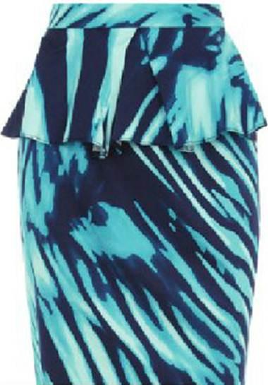 Description: Closet high waist print peplum skirt