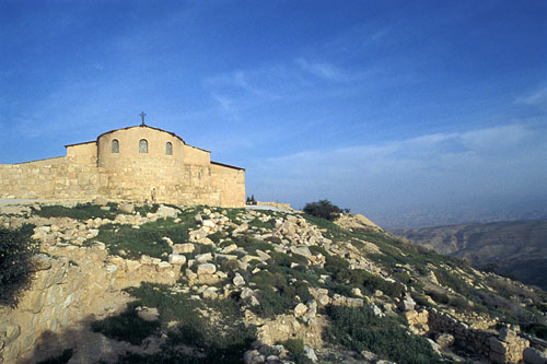 Description: The Memorial Church of Moses on Mount Nebo