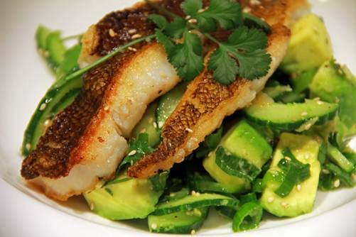 Description: Fish Curry With Cucumber-Lime Salad