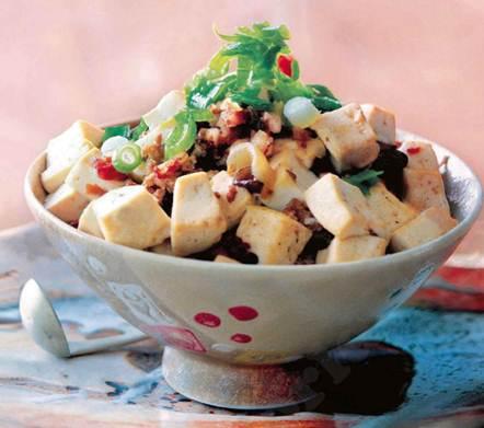 Description: Description: Tofu and prawn stew