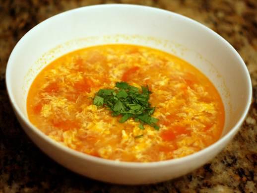 Description: Description: Tomato and egg drop soup