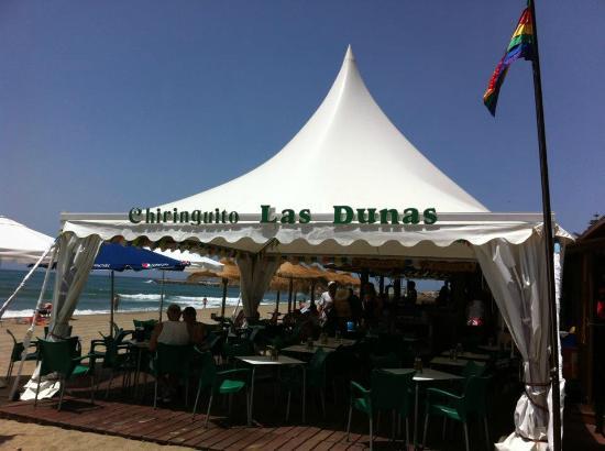 Description: Chiringuito at Cabopino beach