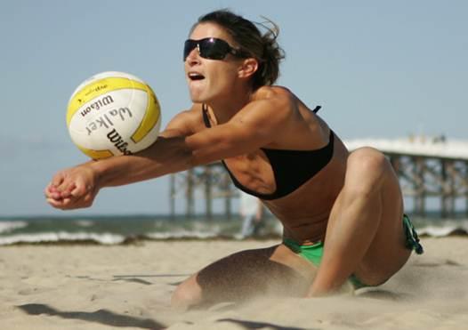 Description: Beach Volleyball In Devon