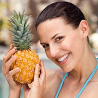 Description: Beauty with pineapple