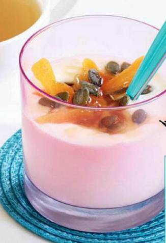Description: Honey and apricot yogurt