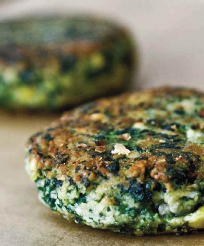 ... (Part 2) - Beetroot and brown rice burgers, Spinach chickpea burgers