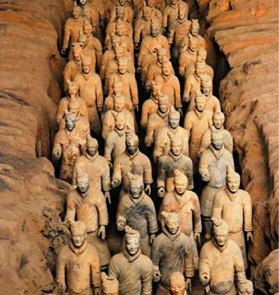 Description: Qui Shi Huang's terra cotta army