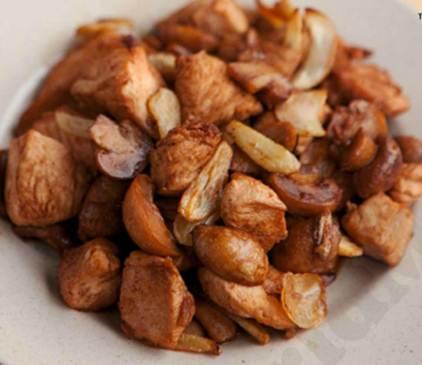 Description: Chicken Mushroom Salpicao