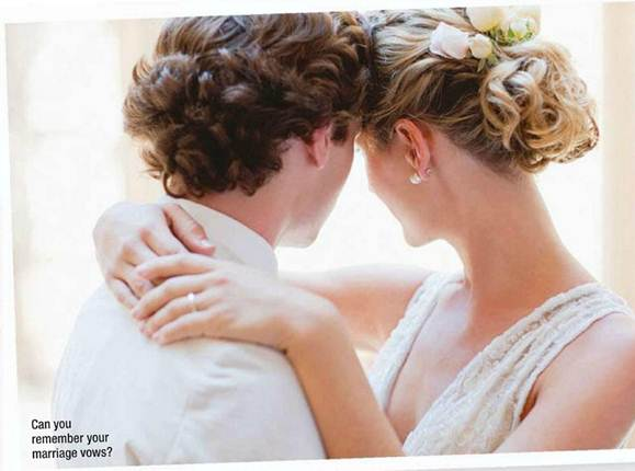 Description: Can you remember your marriage vows?