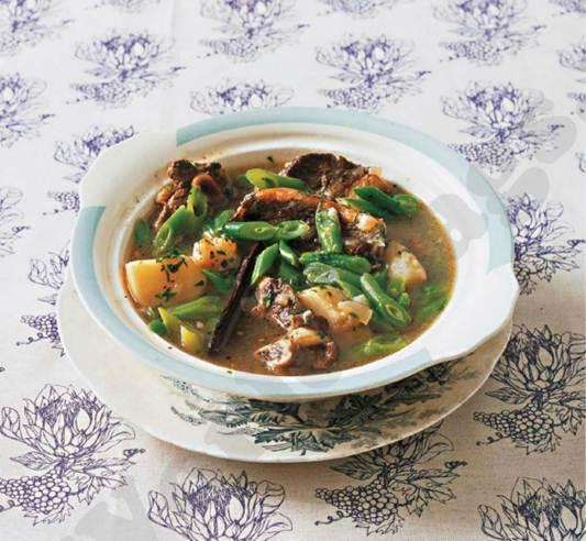 Description: Liza Brown's Vaalboontjiebredie (Bean Stew)