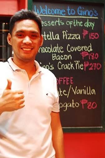 Description: Description: Jutes Templo, owner, Gino's brick oven Pizza