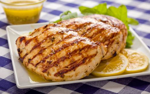 Description: Grilled chicken breast with lemon juice, garlic and thyme